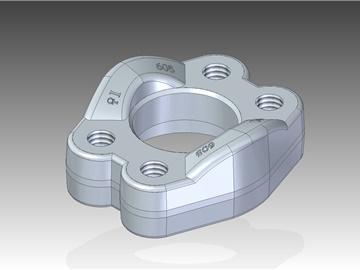 | Semiflange intere con fori di fissaggio filettati metrici