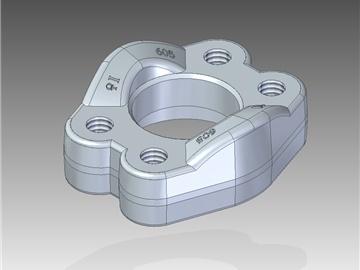 | Semiflange intere con fori di fissaggio filettati UNC