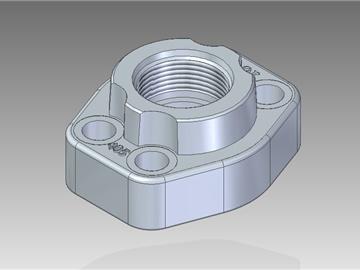 | Flange filettate UN con filetto cilindrico con sede o-ring