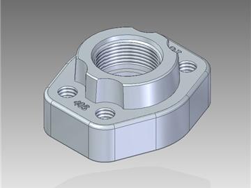 | Controflange filettate UN con filetto cilindrico con sede o-ring