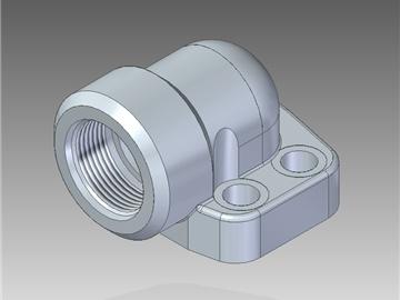 | Flange a 90° filettate UN con filetto cilindrico con sede o-ring
